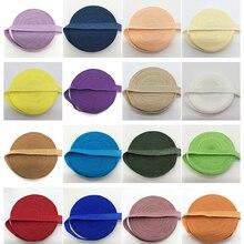 "5 ярдов 3/"" 10 мм эластичная лента Многоуровневая складывающаяся эластичная лента спандекс атласная лента DIY кружевная швейная накладка выбрать цвет"