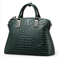 hot selling fashion ladies100% geniune leather green crocodile tote women bag/Gold hardware women tote handbags 50ZD