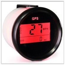 52 мм Цифровой Автомобильный спидометр gps одометр ЖК-дисплей миля в час метр узлов для лодки с задней светильник 12 в 24 В
