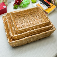 cestas de mimbre decorativas Fruit Bread Rattan woven Basket fruitmand baskets wicker