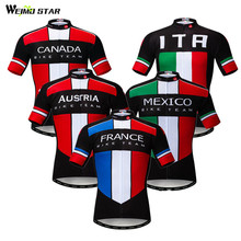 Weimostar France Canada Team Cycling Jersey 2019 Pro Mountain Bike Clothing Maillot Ciclismo Quick Dry mtb Bicycle Jersey Shirt weimostar summer red cycling jersey set women gel pad mountain bike clothing quick dry mtb bicycle jersey set maillot ciclismo