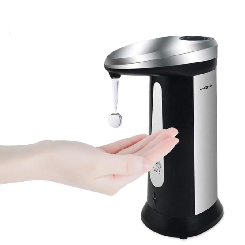 400ml Bathroom Automatic Liquid Soap Dispenser Smart Sensor Touchless ABS Electroplated Sanitizer Smart Home Household Appliance