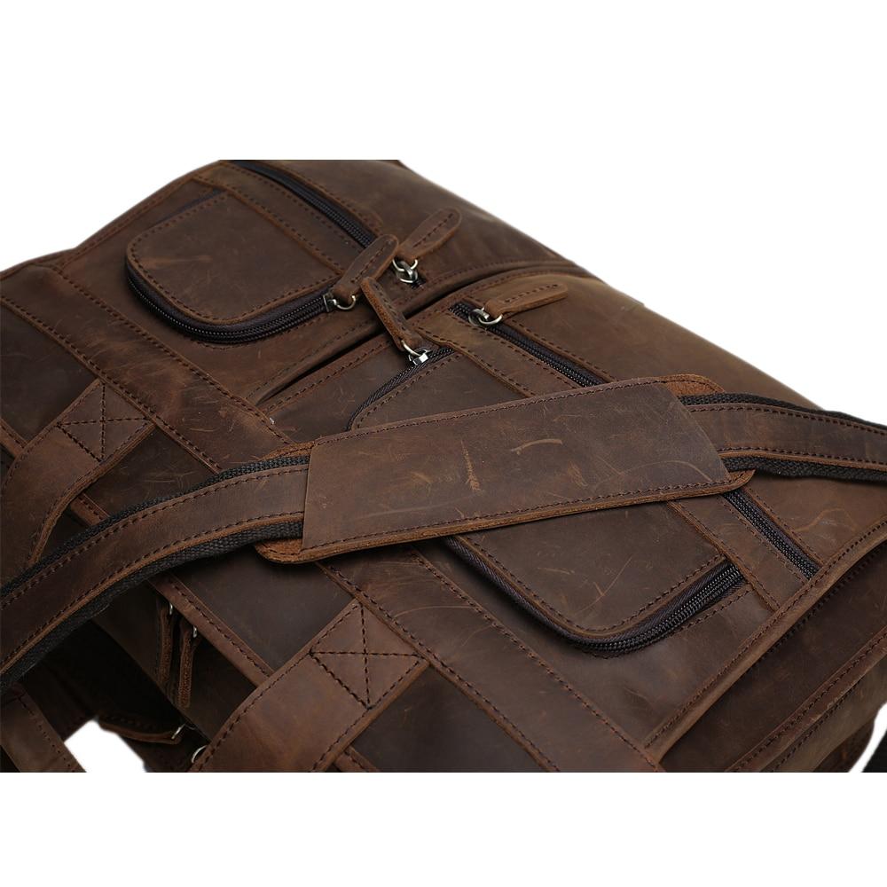ROCKCOW Herren Echtes Leder Aktentasche Messenger Tote Bag Fit 16 - Aktentaschen - Foto 4