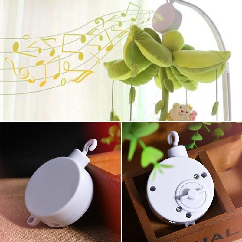 Songs Rotary Baby Mobile Crib Bed Toy Music Box Movement Bell Bedroom Decor