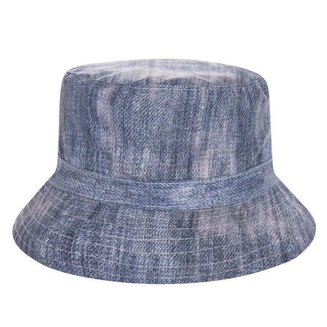fc738451 New Jeans Style Flat Bucket Hat Men Women 3D Printed Bob Beach Hip Hop  sombrero pescador
