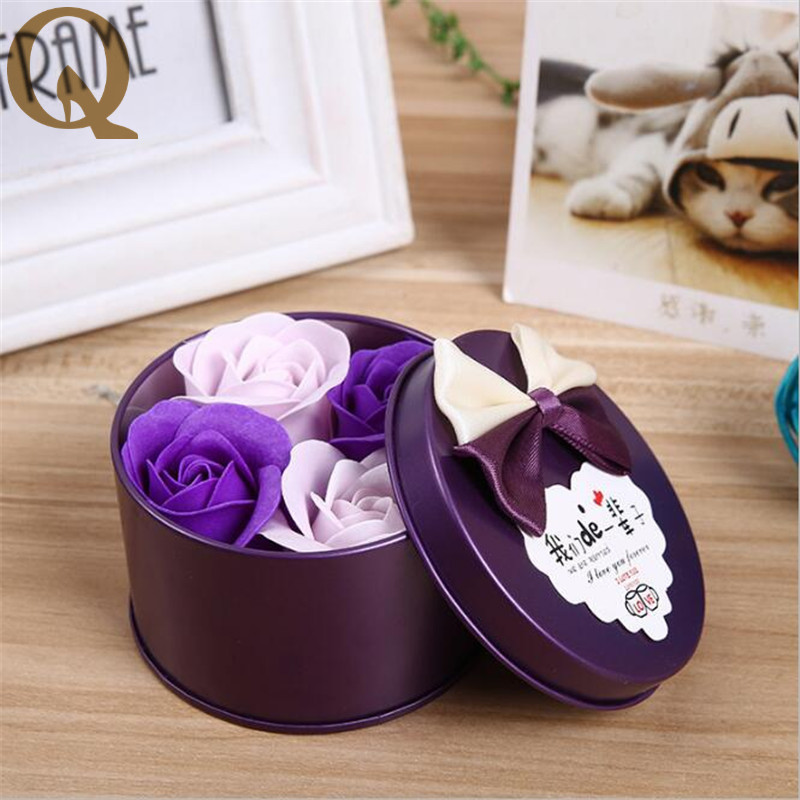 Aliexpress Buy 4pcsbox Romantic Rose Soap Flower With Little