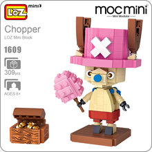 LOZ Mini Blocks Tony Tony Chopper One Piece Action Figure Cotton Candy Lover Moc Mini Modular Building Bricks Chibi Anime 1609