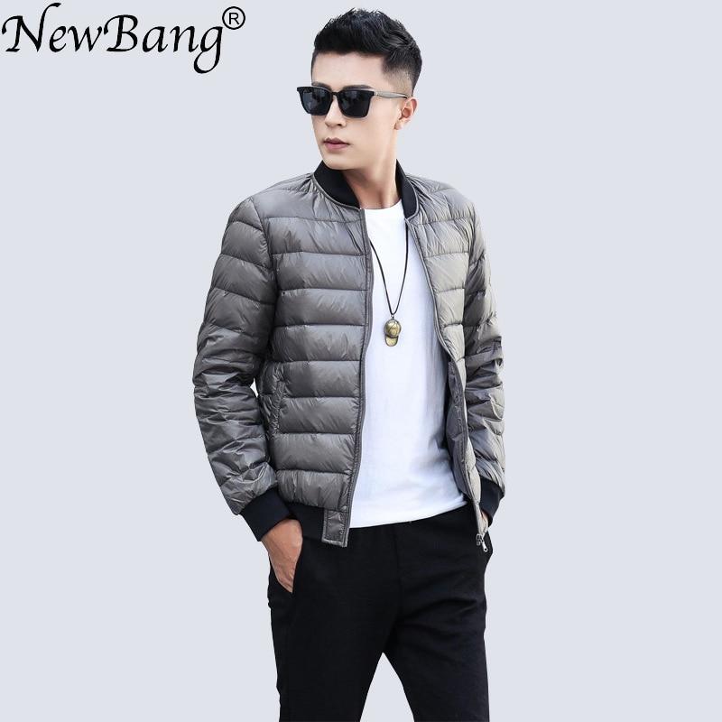 NewBang Brand Duck Down Jacket Men Ultra Light Down Jjacket Men Warm Winter Coat Baseball Collar Lightweight Feather Coat