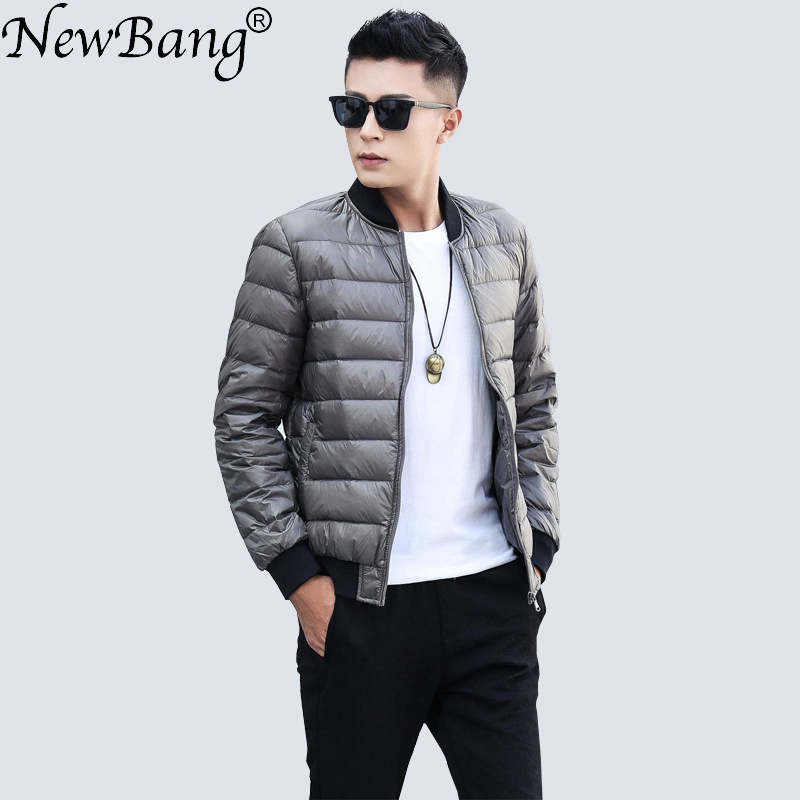 NewBang Brand Duck   Down   Jacket Men Ultra Light   Down   Jjacket Men Warm Winter   Coat   Baseball Collar Lightweight Feather   Coat