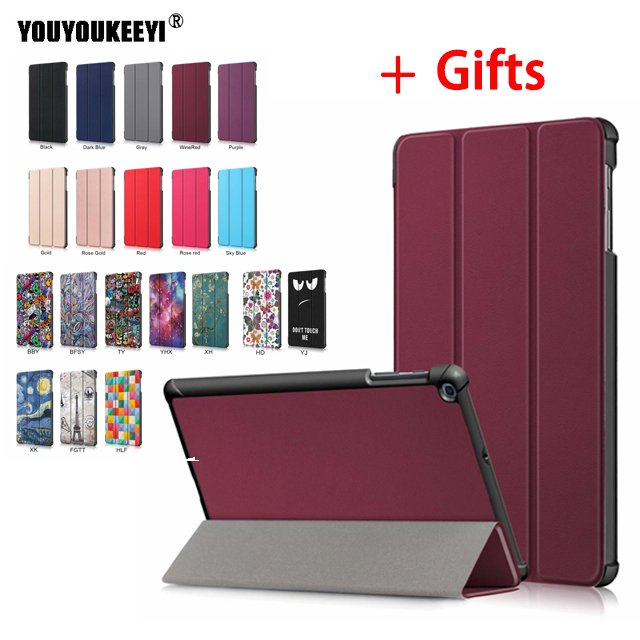 Folio Case For Samsung Galaxy Tab A 10.1 2019 T510 T515 10.1inch Wake-Sleep PU Leather Stand Tablet Cover For SM-T510 SM-T515