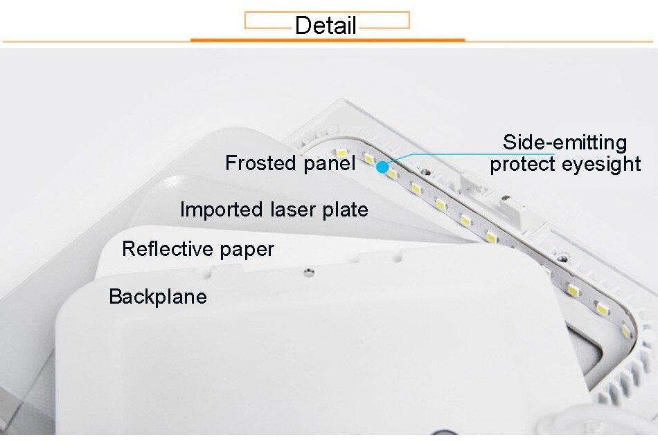 25W Square LED Panel Light Recessed Kitchen Bathroom Ceiling Lamp AC85-265V LED Downlight Warm WhiteCool White Free shipping (13)