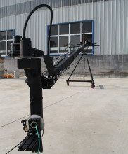 jib crane 10m 2-axis Octagon   pan tilt head portable camera crane dslr  with dolly and monitor Factory supply