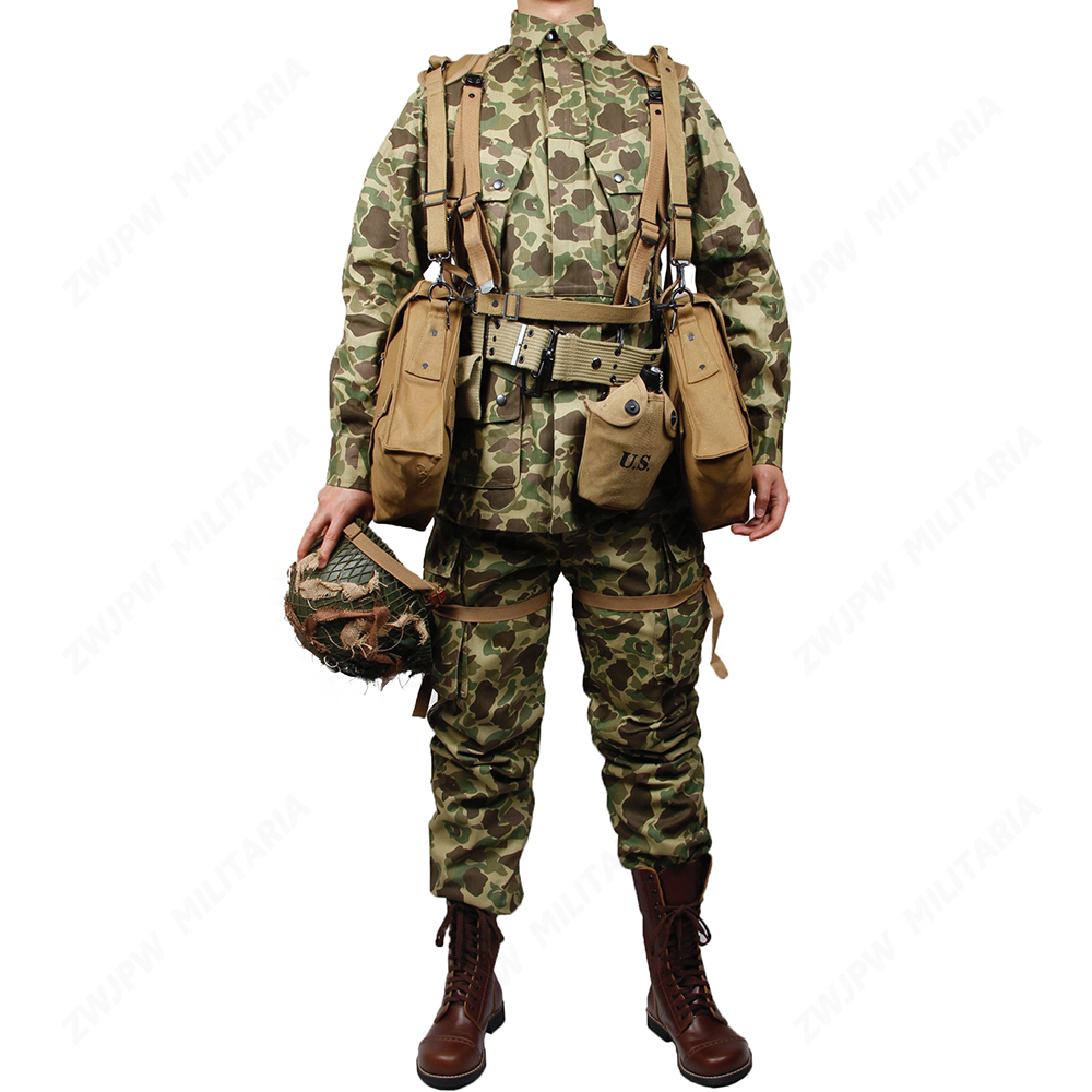 US $373 34 5% OFF|WW2 US Army Military ARMY M42 PACIFIC CAMOUFLAGE OTTON  THE PACIFIC OCEAN PARATROOPER DUCK HUNTER UNIFORM and medical Equipment-in