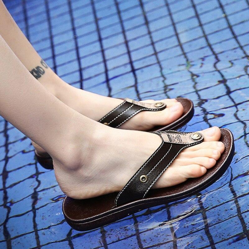 100% Wahr Herren Flip-flops Sommer Urlaub Strand Weichen Thong Toe Sandalen Sandalen Strand Schuhe Die Neueste Mode