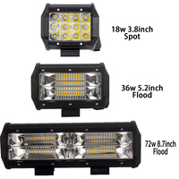 2X Tri Row Led Light Bar 4 5 9 Inch Led Work Light Offroad Driving Light