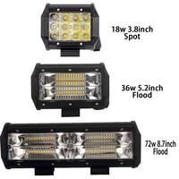 2X Tri Row Led Light Bar 4 5 9 Inch Led Work Light Offroad Driving Light