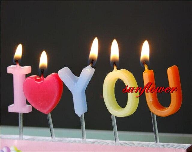 Romantische Liebe Kerze Valentinstag Vorschlag Geburtstagskerzen Kuchen  Party Weihnachten Navidad Neue Jahr