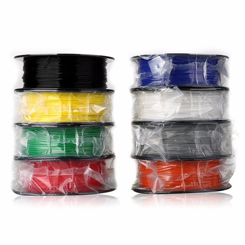 JGAURORA plastique 3D imprimante Filament ABS 1.75mm 1 kg 2.2lbs bobine haute précision pour imprimantes 3d 10 couleurs disponibles