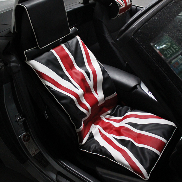 UK British Flag Printed Car Seat Cover For Front Universal Car Van Front Heavy Duty Dustproof Protectors Auto Seat Cushion Cover original gm60a portable mimi led video projector with wifi micacast airply for iphone ipad samsung android mobile phone pc