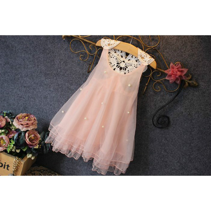 Fashion kids clothes Flower Girl Spring Summer Princess Dress Kid Baby FormalParty Wedding Lace Tulle Tutu Dresses 5