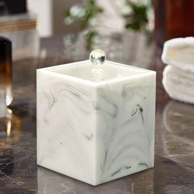 Европейская мода креативная мраморная текстура зубочистка коробка ручной давление коробка для хранения зубочисток настольная пепельница круглый ватный тампон коробка - Цвет: E