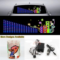 Car Sound Music Rhythm Article Sticker Flash Light Sound Activated Equalizer 90cm*25cm 35.4in*9.84in