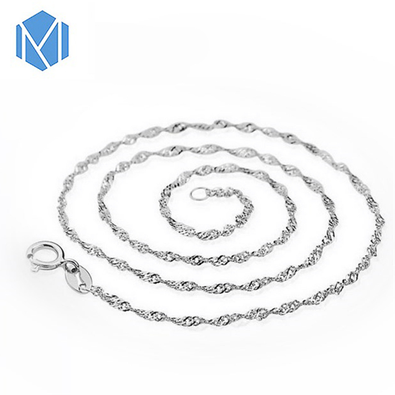 New Arrival 2 types Women Fashion Water-Wave Snake Necklace Shining Chain Chokers Girls Dainty Simplicity Collar Accessories