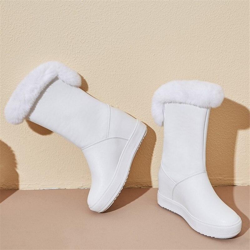 Женская обувь; коллекция 2019 года; зимняя теплая женская обувь на плоской подошве, увеличивающая рост; Повседневные Вечерние туфли на плоской подошве для свиданий - 6