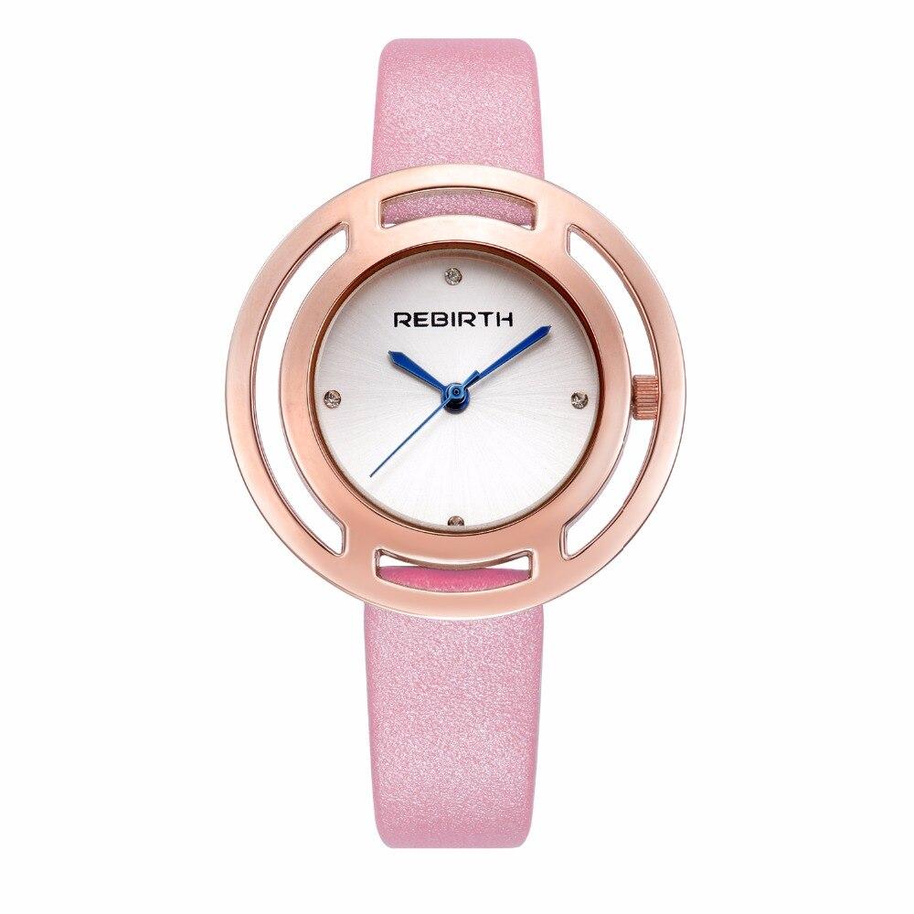 Ny Rebirth Fashion Casual Kvarts Armband Damer Armbandsur Dameshorloge Business Classic Elegant Topp Märke Dameshorloge Söt