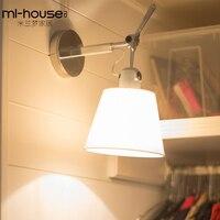 الحديثة الشمال الجدار مصباح الاكريليك كرة زجاجية مستديرة شنت ضوء LED إضاءة داخلية لمطعم غرفة المعيشة غرفة نوم الممر