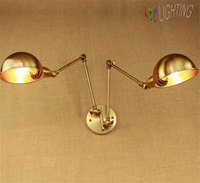 Gold Plate Iron Retro Wall Lights Bronze Metal Lampshade Wall Sconce Indoor Wall Lamp Home Garden