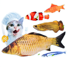 Cat toys catnip fish cats toy gift 3D Simulation fish Pillow fish Stuffed Fish Interactive cat Pet plush toy fish pet products недорого