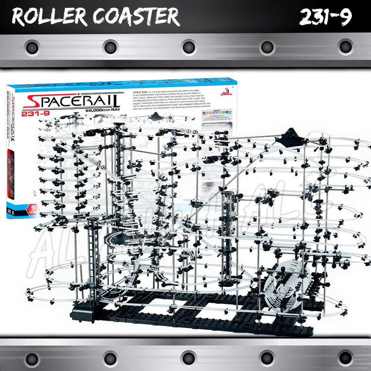 7000cm Rail High Level 9 Challenge Marble Run Roller Coaster Electric Elevator Model Building Gifts Sets Rolling ball Sculpture