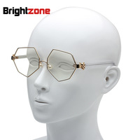 Yang Mi New Pattern Hexagon Glasses Personality Palm Spectacle Frame Pearl Nose Support Men And Women