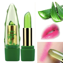 ALOE VERA Batom 99% Natural Temperature Change Color Jelly Lipstick Long Lasting Moistourizing Nutri