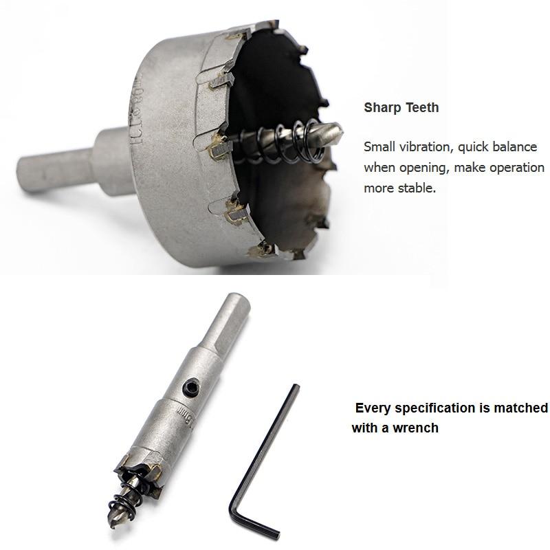 Free Shipping 16-65mm Core Drill Bit Metal Hole Saw Drill Bit for Steel Metal Alloy Cutter Multi tool