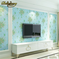 Beibehang European Palm Tree Papel De Parede 3D Wallpaper For Living Room TV Background Wall Paper