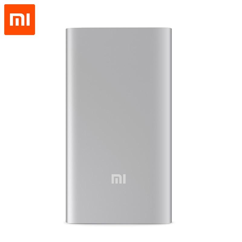 imágenes para Original Banco de la Energía 5000 mAh Xiaomi Mi Powerbank Cargador Portátil Delgado 5000 para iPhone Xiaomi Huawei Teléfonos Móviles