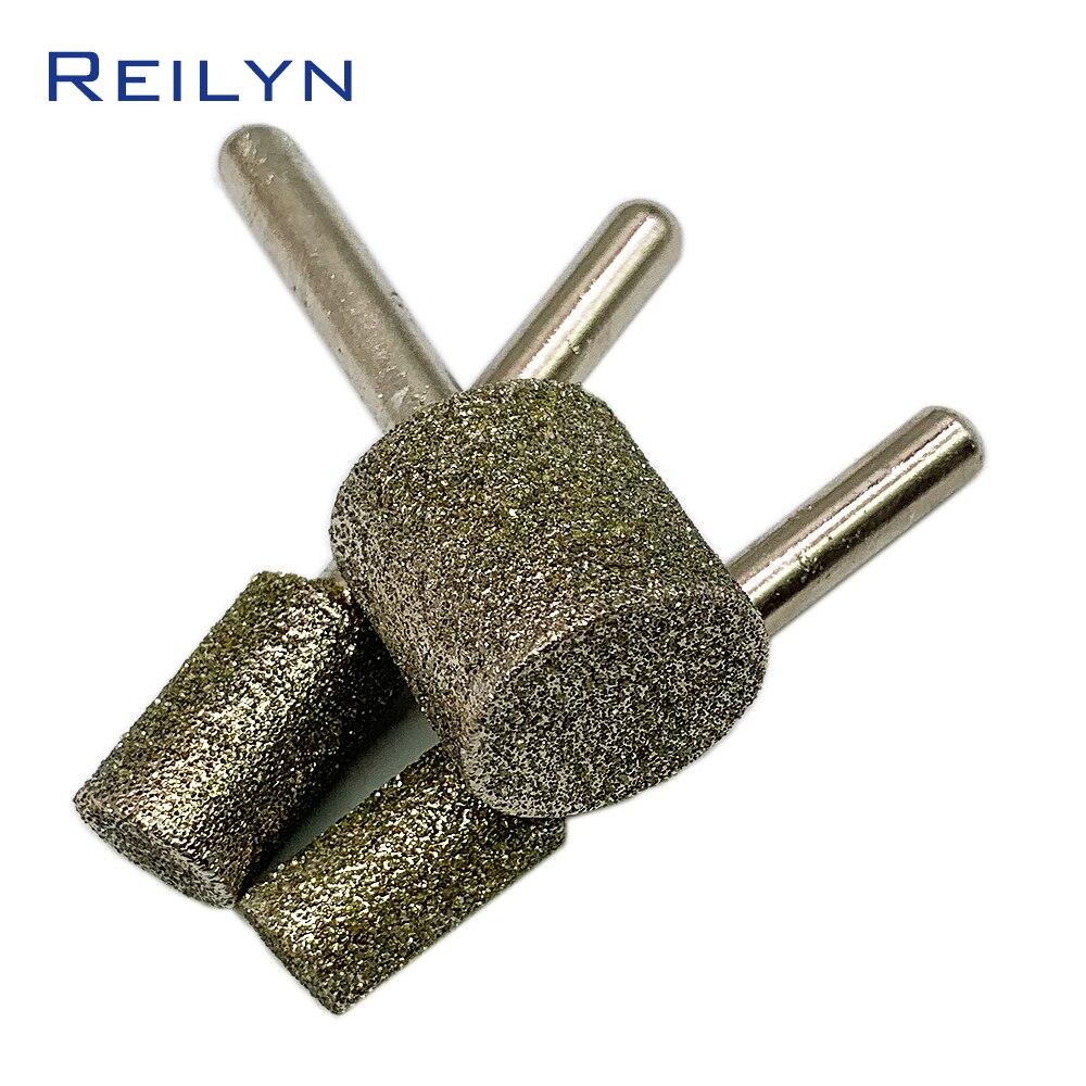 1pc 46# Cylinder Bits 6-25mm Emery Grinding Points Diamond Abrasive Bits Jade Grinding Burr Teeth Dental Machine Abrasives