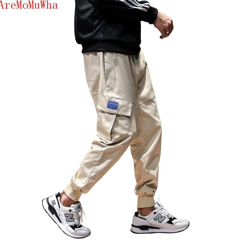 AreMoMuWha automne et hiver nouvelle salopette lâche harem pantalon multi-poches salopette décontracté petite jambe pantalons de survêtement M--5XL QX148