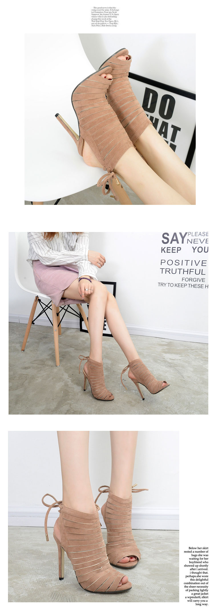 Odinokov Roman Sandals Women Pumps New Style Booties Ladies Sexy Hollow Cross Lace Up High Heels Shoes Woman 7