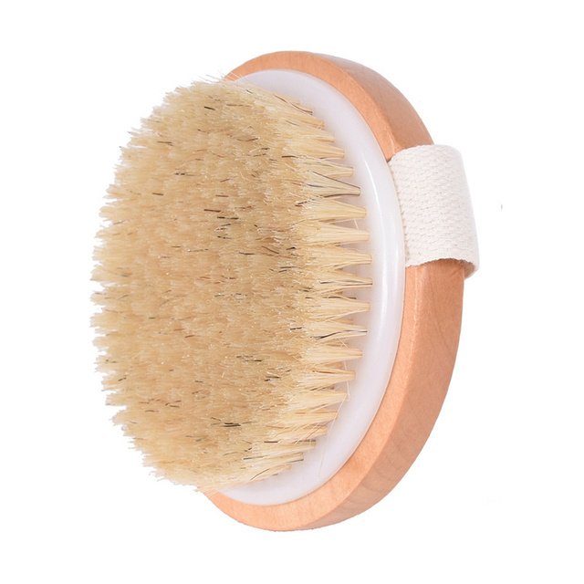 Natural Bristles Brush Body Massager Cleaning Brush For Bath