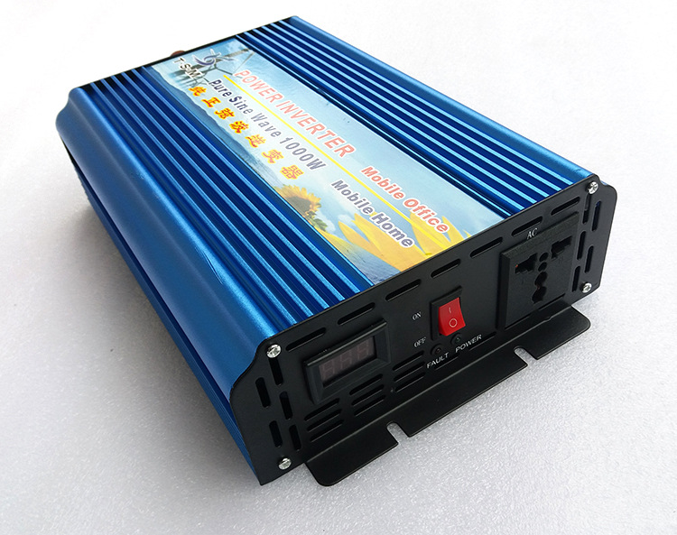 цена на 1000W dc12V to ac110V 60hz digital display Pure Sine Wave Power Inverter Solar Inverter