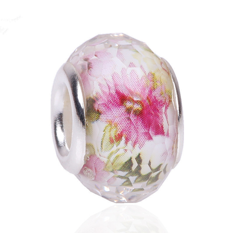 Responsible Spinner Luxury Cherry Blossom Murano Glass Beads Fit Pandora Original Charm Bracelet Beads Jewelry Making Accessories Buy One Give One Beads