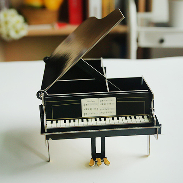 New creative color paper combination assembly DIY Piano pen ...