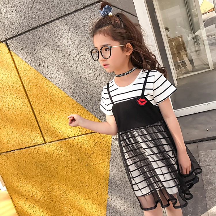 Подробнее о summer 3-14 years old girls False two pieces striped patchwork Dress child clothing children clothes baby dress kids dresses baby girls dresses brand princess dress girl clothes kids dresses children costumes 3 14 years old