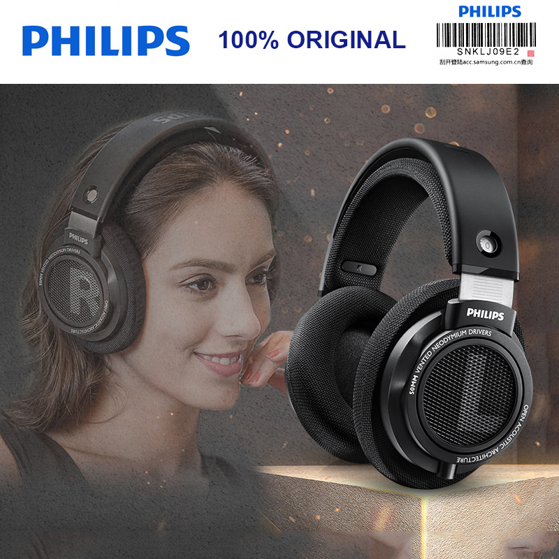 Original Philips SHP9500 HIFI Headphones Wired Adaptive Noise Canceling Monitor Headset Open back cover for xiaomi