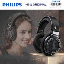 Original Philips SHP9500 HIFI หูฟังหูฟังแบบมีสายชุดหูฟังเปิดด้านหลังสำหรับ Xiaomi Samsung สนับสนุนการตรวจสอบอย่างเป็นทางการ