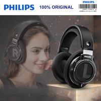 Original Philips SHP9500 HIFI Headphones Wired Adaptive Noise Canceling Monitor Headset Open back cover for xiaomi SamSung S8 S9
