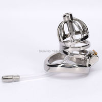 SODANDY Male Chastity Belt Stainless Steel Chastity Devices Penis Locking Cage With Urethral Sounds Dilator For Men Sex Fetish